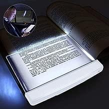 2PCS Book Light LED Reading Light Night Light Book Family Study Light Eye Care Reading Lamp Portable Bookmark Light for Reading in Bed, Car (White)