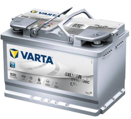 Batterie Varta E39 SIL-DYN-AGM 12 V 70 Ah 760 EN Dimensions 278 x 175 x 190 mm B13 -