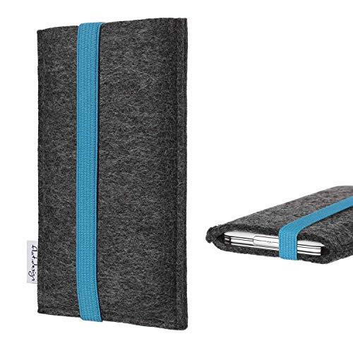 flat.design vegane Handyhülle Coimbra kompatibel mit Huawei P8 Lite 2017 Dual SIM - Smartphone Tasche Handmade in Germany - Handytasche aus Filz