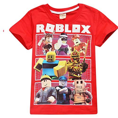 Kids Boys Roblox Fútbol Juegos Family Gaming Team Tops tee (Rojo 3, 11-12 años)