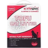 【TOILET SAFE CAT LITTER】 - The Natural Eco-friendly tofu cat litter will dissolve in the water instantly, so you don't have to worry about clogging your toilet. 【LOW TRACKING & DUST FREE】 - KITTYWOO Litter is designed to stay off of your cat's paws t...