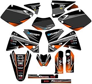 Senge Graphics kit compatible with KTM 2001-2002 EXC, Surge Black Graphics Kit