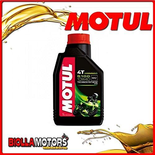 MOTUL38 - FLACONE 1 LITRO OLIO MOTUL 5100 4T 10W40 TECHNOSYNTHESE 100% SINTENTICO PER MOTORI 4T