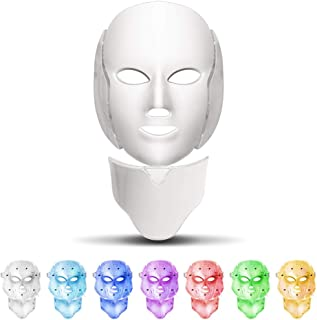 7 kleuren LED Gezichtsmasker LED Koreaanse Foton Therapie Gezichtsmasker Machine Lichttherapie Acne Masker Nek Schoonheid ...