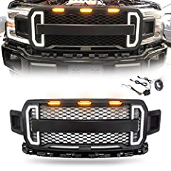 ★BE CAREFUL: Have NO letters. If your truck has a front CAMERA, our grill will NOT fit. ★DESIGN: The front grille give your F-150 a new look. Make your truck have a cool look. ★INSTRUCTIONS: Just unscrew your old grill and screw this one in with orig...