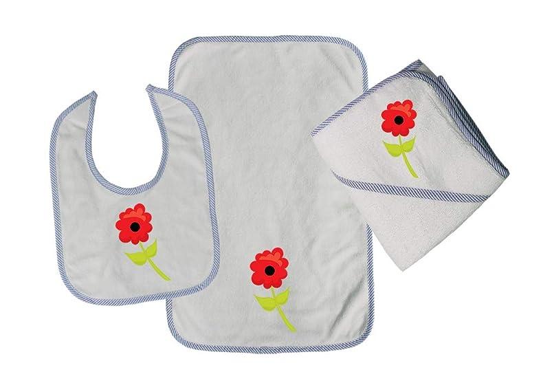 Poppy 2 Cotton Boys-Girls Baby Bib-Burb-Towel Set, One Size uveiwuzz941797