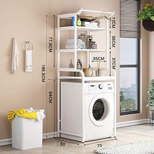 Waschmaschine Regal 3-lagige Trommelwaschmaschine Zahnstange, Haushalt Kohlenstoffstahl Waschmaschine Zahnstange, Balkon Trommelwaschmaschine Zahnstange, am Boden montierten Bad Lagerregals, platzspar