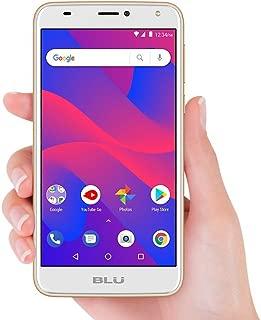 Blu C6 Unlocked Cell Phone 5.5'' Display 16GB/1GB ROOM Android V.8.1 Oreo(Gold)
