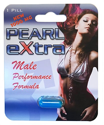 Pearl eXtra Male Performance Enhancement Supplement Energy, Stamina and Endurance with L Arginine - 1000 MG - 6 Capsules