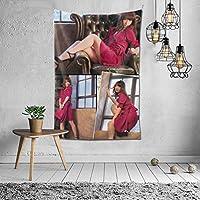 2021 Akb48柏木由? 、 柏木由紀、 Yuki Kashiwagi タペストリー ファッションの絶妙な印刷リビングルームの入り口寝室の背景壁の装飾カスタマイズされた壁掛け布 (152*102cm)