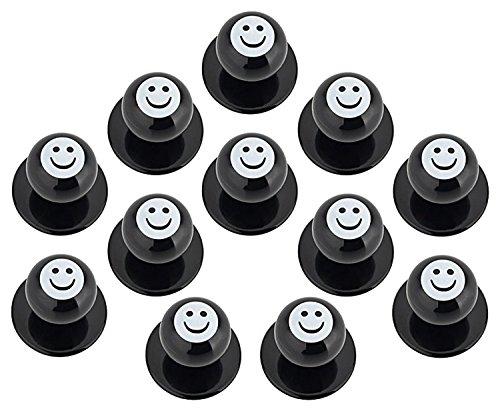 DESERMO 12er Set Kugelknöpfe Smiley für Kochjacken | Hochwertige Kochjackenknöpfe für alle Kugelknopf-Kochjacken | Profi Kochknöpfe (Smiley)
