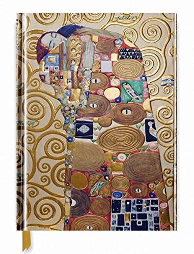 Premium Skizzenbuch: Gustav Klimt, Die Erfüllung: Unser hochwertiges Blankbook mit festem, künstlerisch geprägtem Einband im Format 28 cm x 21,6 cm