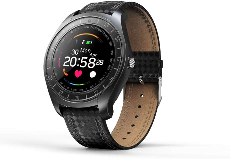 RUIXFWA Smart Watch HD Grobild Sport Touch Wasserdicht Herzfrequenz Blautdruck Schlafüberwachung Schritt