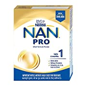NAN PRO 1 is a spray dried Infant Formula with DHA ARA for infants from birth when they are not breastfed NAN PRO 1 contains DHA- DHA supports baby's normal brain development Contains Whey Protein along with Vitamin A, C, D, Iron and Zinc Important N...