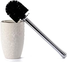 Toiletborstel Fashion Household Keramische Ronde toiletborstel Neutral Hard opzetborstel Electroplated plastic handvat Toi...