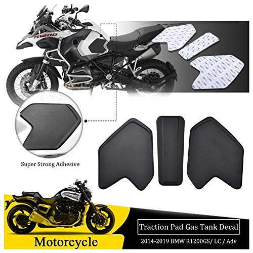 FATExpress Tank Pad for BMW R1200GS ADV Motorcycle Anti Slip Traction Pads Stickers Emblem Side Fuel Gas Tank Grip Decal Protector R 1200 GS Adventure 2014 2015 2016 2017 2018 2019
