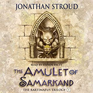 The Amulet of Samarkand                   Written by:                                                                                                                                 Jonathan Stroud                               Narrated by:                                                                                                                                 Steven Pacey                      Length: 9 hrs and 30 mins     1 rating     Overall 4.0