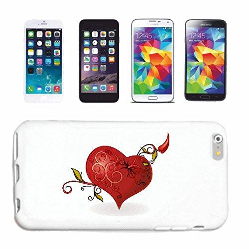 Reifen-Markt Hard Cover - Funda para teléfono móvil Compatible con Apple iPhone 5 / 5S Corazón Grande con decoración para Día de la Madre Compromiso DE CUMPLEAÑOS