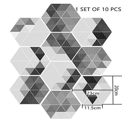 Mozaïek tegelfolie zelfklevende tegelsticker voor keuken badkamer mozaïek decoratieve film decoratieve tegellijm film voor wandtegels mozaïek tegel behang voor badkamer 23cmX20cm