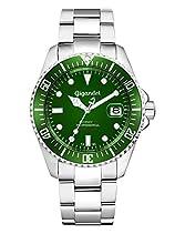 Gigandet SEA GROUND Automatik Herren Armbanduhr Taucheruhr 300m mit Edelstahlarmband Grün - G2-008
