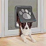 PETLESO宠物门屏风门专用狗门大号宠物门屏风门宠物(用于中型和大型犬)30cm x 36cm