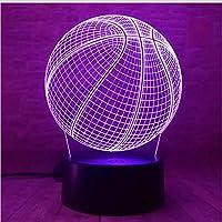 3D LED錯視ランプ バスケットボール誕生日プレゼント7色自動変更ナイトライト子供男の子男ギフト玩具バスケットボールスポーツファンのため