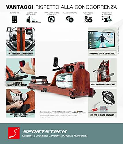 Sportstech WRX700 Wasser Rudergerät - 7