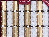 Robin Reed 8 X 10 Handmade English Christmas Crackers Gold Snowflake