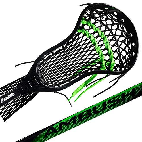 Franklin Sports Lacrosse Stick - Complete Lax Stick - Attack Stick - Boys/Men Lacrosse - Mesh Pocket - Attack/Midfielder - Ambush