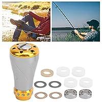 Reel Handle Knob, Fishing Wheel Handle Knob Fishing Handle Knob Knob Replacement Fishing Reel Handle Knob for S/D Casting Reel(Starlight Gun Gold)