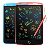 2 Pack LCD Writing Tablet - Colorful Screen Drawing Board 8.5inch Doodle Scribbler Pad Learning Educational Toy -...