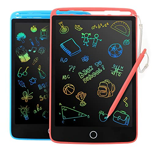 2 Pack LCD Writing Tablet for Kids - Colorful Screen Drawing Board 8.5inch Doodle Scribbler Pad...