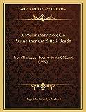A Preliminary Note On Arsinoitherium Zitteli, Beadn: From The Upper Eocene Strata Of Egypt (1902)