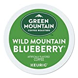 Green Mountain Coffee Roasters Wild Mountain Blueberry, Single-Serve Keurig K-Cup Pods, Flavored Light Roast Coffee, 96 Count