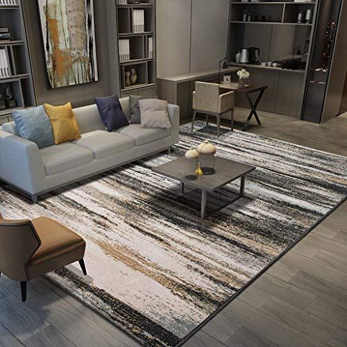 aasdf Ultraweiche Moderne Teppiche für den Innenbereich Wohnzimmerteppiche, Dicke, weiche, schallabsorbierende, rutschfeste Teppiche im minimalistischen Schlafzimmerbereich im europäischen Stil (F