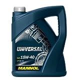 MANNOL Universal 15W-40 API SG/CD Motorenöl, 5 Liter