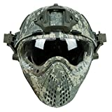 Airsoft RAPIDE Casque Avec Masque de Masque Pour L'armée Militaire WarGame Moto...