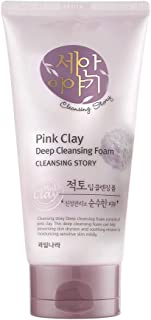 Cleansing Story Natural Facial Deep Foam Cleansing - Pink Clay