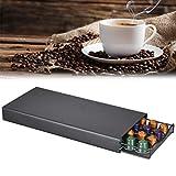 Roexboz Dispensador de cápsulas de café, caja de almacenamiento para cápsulas de café, cajón de almacenamiento antideslizante para oficina, hogar o cocina