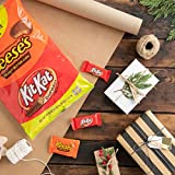 REESE'S and KIT KAT Christmas Chocolate Candy Bulk Variety Mix, Individually Wrapped, Perfect for Stocking Stuffing, Holiday Parties and Gift Bags, 85 Count