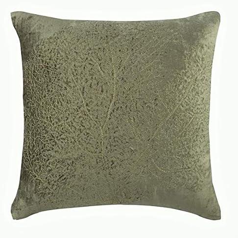 The HomeCentric Handmade 買い物 Sage Green Tree Shams 購買 Golden P Zardozi