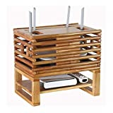 Ratán raya WIFI Router Plataforma / TV Set-Top Boxes magia Estante de almacenamiento caja de la decoración intercalar colgar de la pared del router Soporte de pared creativo Caja de almacenamiento dec