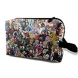 Neceser de viaje Cool Anime Dragon Ball de una pieza Naruto bolsa de maquillaje para mujeres y niñas