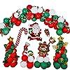 165個セットクリスマスデコレーション明けましておめでとうございますDIYクリスマスアルミフィルムバルーンサンタクロースクリスマスパーティーバルーン