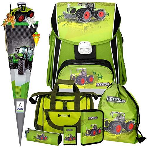 Spirit Green Tractor Power - Traktor - 3D-Leicht-Schulranzen-Set 8teilig mit Sporttasche, SCHULTÜTE und SCHULTÜTENSCHMUCK-Set boi
