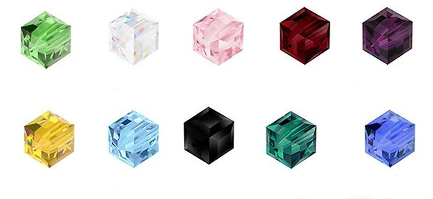 Wholesale Mix Lots Cube Crystal Beads 8mm Compatible with Swarovski Crystals Preciosa (150pcs) CCS10