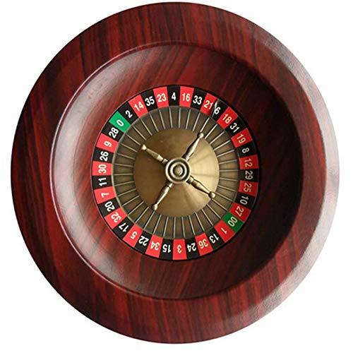 MYYINGELE 12' Juego de Ruleta con Ruedas, Juego Ruleta de Madera, Ruleta de Apuestas de Madera de Lujo Tipo Casino Ruso, Ruleta de Sorteos de Juegos, Rodamientos de Precisión de Grado Casino