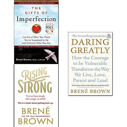 Price comparison product image Brené Brown Collection 3 Books Set (Rising Strong, Daring Greatly, The Gifts of Imperfection)