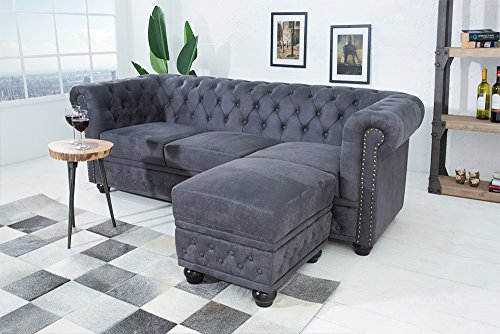 Edles Chesterfield 3er Sofa-200222104043