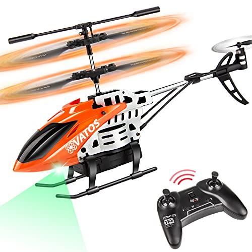 VATOS RC Elicottero Elicottero Telecomandato Vola per 22 Minuti - Mini Elicottero RC 2,4 Ghz 3,5 Canali con Giroscopio e luce LED per Bambini | Adulti Miglior Regalo per Elicotteri da Interni